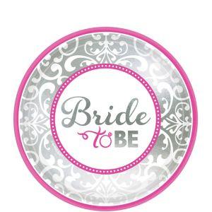 Metallic Bride to Be Dessert Plates 8ct - Classy Bride