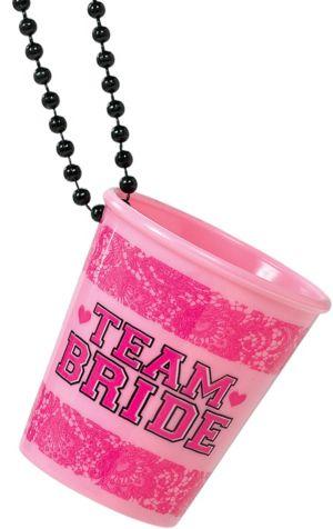 Team Bride Shot Glass Necklaces 6ct