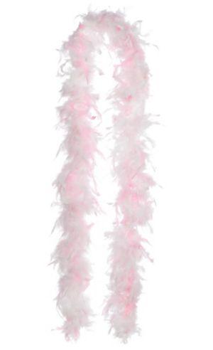 Pink & White Boa - Classy Bride