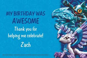 Custom Skylanders Thank You Notes
