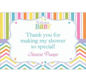Custom Baby Brights Thank You Notes