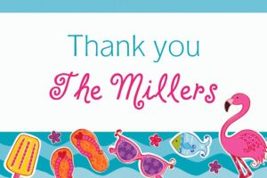 Custom Summer Fun Thank You Notes