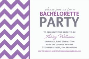 Custom Purple Chevron Invitations