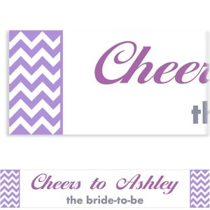 Custom Purple Chevron Banner 6ft