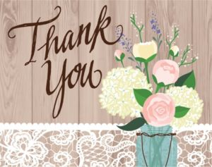 Rustic Wedding Thank You Notes 8ct