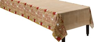 Merry Little Christmas Kraft Table Cover