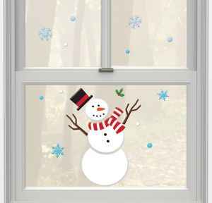 Snowman Gel Cling Decals 20ct