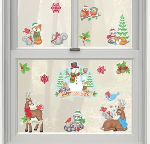 Winter Friends Cling Decals 15ct