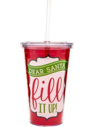 Dear Santa Double Wall Tumbler
