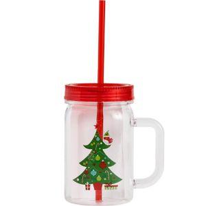 Christmas Mason Jar Tumbler