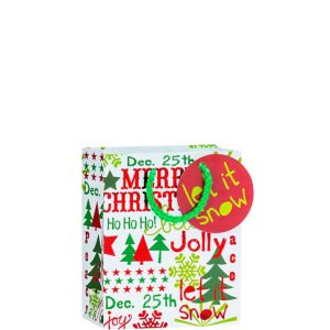 Metallic Let it Snow Christmas Gift Bag
