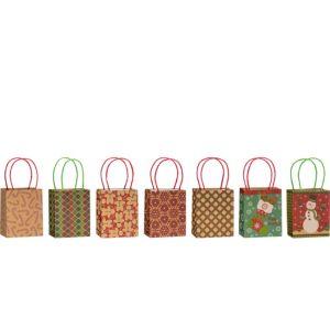 Kraft Christmas Gift Bags 7ct