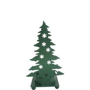 Green Christmas Tree Silhouette Tealight Candle Holder