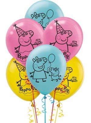 Peppa Pig Balloons 6ct