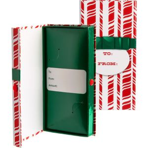 Candy Cane Stripe Check & Gift Card Holder Box