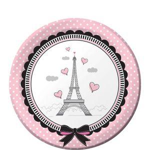 Pink Paris Dessert Plates 8ct