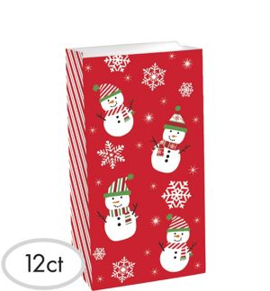 Snowman Treat Bags 12ct - Very Merry