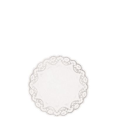 White Round Doilies 48ct