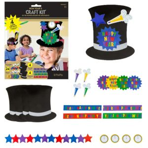 Happy New Year Hat Craft Kit for 4