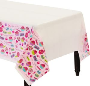 Pastel Birthday Sweets Table Cover