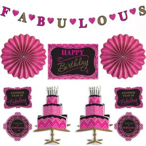 Fabulous Birthday Room Decorating Kit 10pc