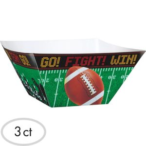 Football Field Snack Bowls 3ct