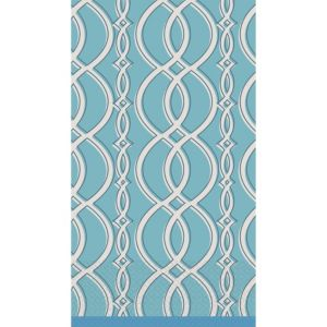 Elegant Chain Blue Guest Towels 16ct