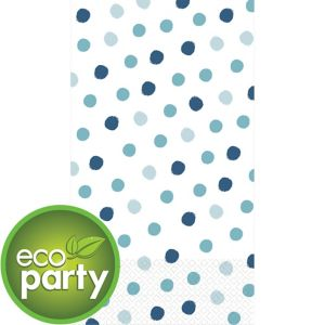 Eco-Friendly Whimsical Blue Dots Guest Towels 16ct