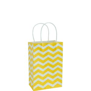 Medium Yellow Chevron Kraft Gift Bag