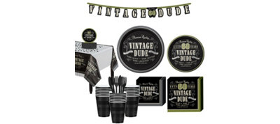 Vintage Dude 60th Birthday Party Kit