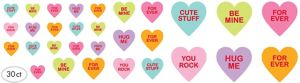 Conversation Heart Cutouts 30ct