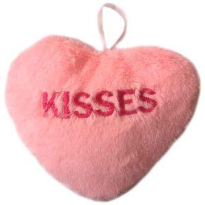 Pink Kisses Plush Conversation Heart