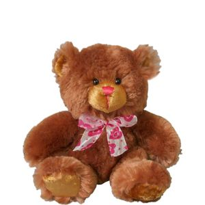 Brown Bow Tie Teddy Bear Plush