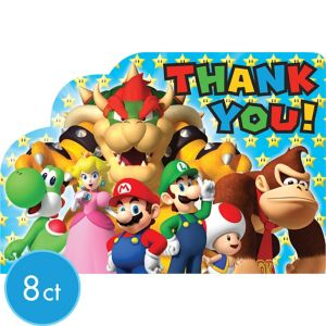 Super Mario Thank You Notes 8ct