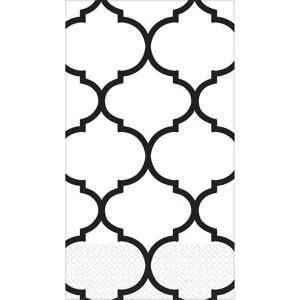 Black Lattice Premium Guest Towels 16ct