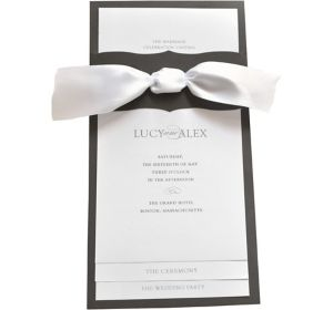 Black & White Printable Wedding Programs Kit 50ct