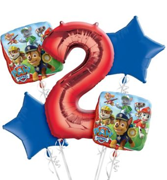 PAW Patrol 2nd Birthday Balloon Bouquet 5pc