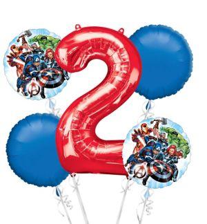 Avengers 2nd Birthday Balloon Bouquet 5pc