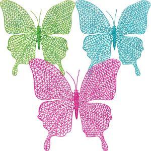 Glitter Hanging Butterflies 3ct
