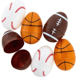 Sports Ball Easter Eggs 6ct