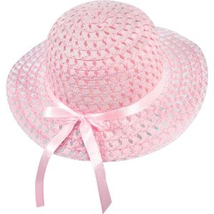Child Pink Woven Easter Bonnet