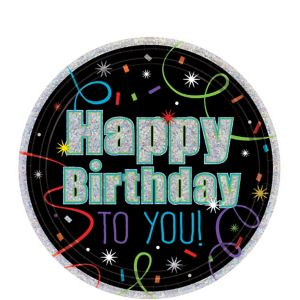 Brilliant Birthday Dessert Plates 8ct