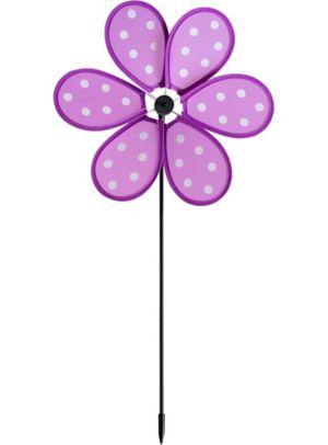 Purple Polka Dot Pinwheel Yard Stake
