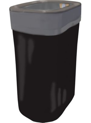 Black Pop-Up Trash Bin