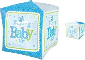 Boy Welcome Baby Balloon - Cubez Welcome Little One