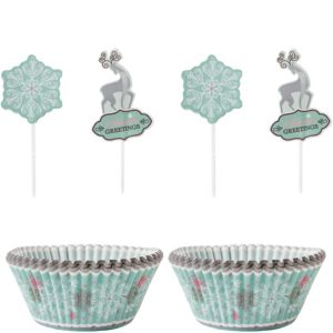 Season's Greetings Snowflake Cupcake Decorating Kit