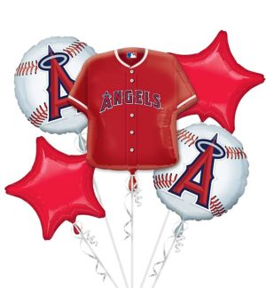Los Angeles Angels Balloon Bouquet 5pc - Jersey