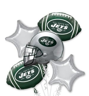 New York Jets Balloon Bouquet 5pc
