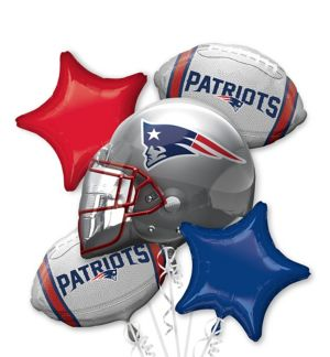 New England Patriots Balloon Bouquet 5pc