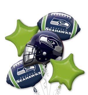 Seattle Seahawks Balloon Bouquet 5pc